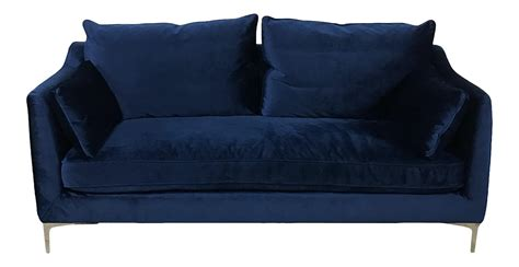 Royal Blue Velvet Sofa by Royal Blue Velvet Sofa Chairish