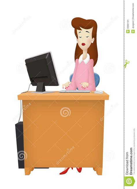 femme de m駭age bureau bureau de femme image stock image 33981191
