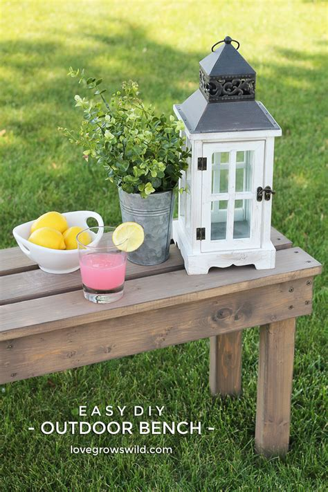 outdoor bench diy easy diy outdoor bench love grows wild