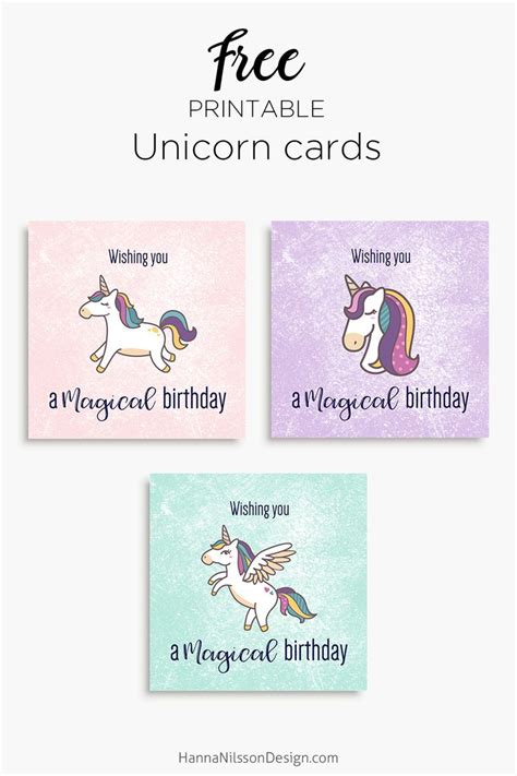 free printable birthday card unicorn 110 best images about hanna nilsson design on pinterest