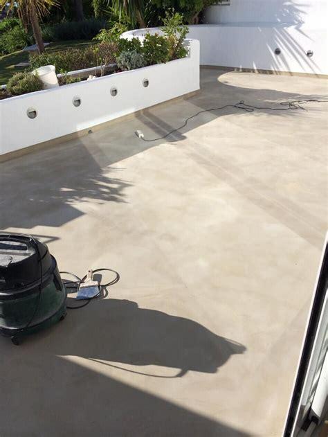 cemento pulido para exterior lijando y preparando terraza de cemento pulido www realcem
