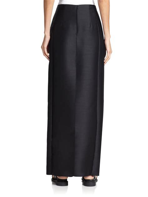Black Floor Length Skirt by The Row Shiya Floor Length Wool Skirt In Black Lyst