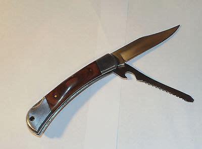 master knives two blade lock back pocket knife carved wood