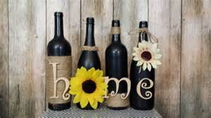 Wine Decorations For The Home Decorated Wine Bottles Hand Painted Set Of Wine Bottles