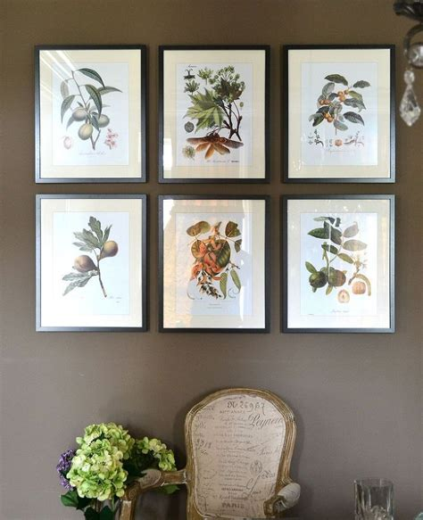 botanical prints sprinkled around the house