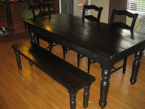farm table with bench just fine tables farm tables to love and last