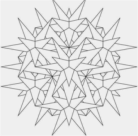 9 3d dimension advance mandala coloring pages print out