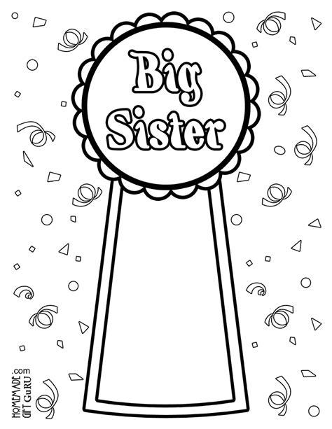 coloring pages baby sister big sister coloring page big sister pinterest big
