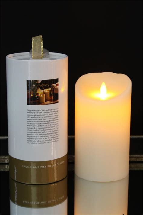 9 quot battery operated luminara flameless candle with remote