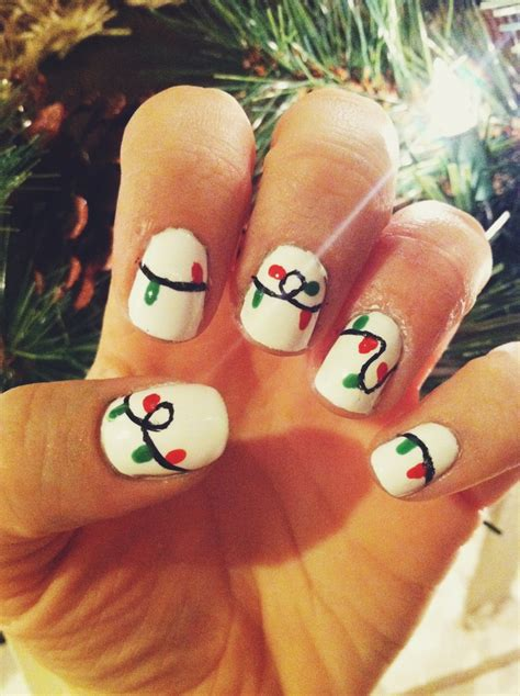 christmas light nails pinterest christmas decorating
