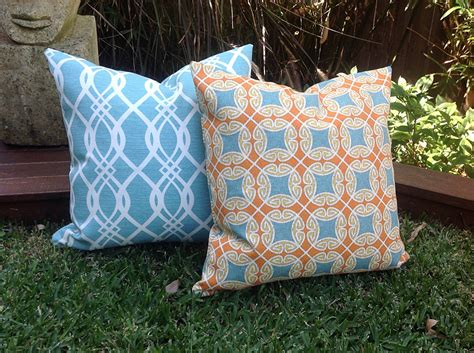 colorful turquoise outdoor pillows great home decor
