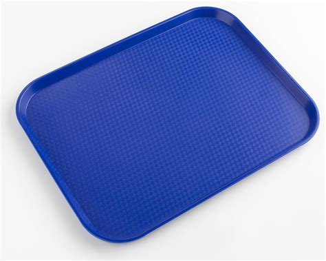 blue fast food tray cafeteria buffet style tray