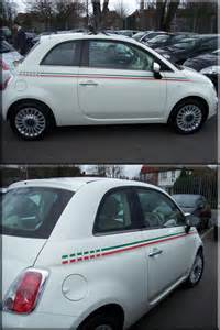 Fiat 500 Vinyl Fiat 500 Italian Side Stripes Vinyl Creations