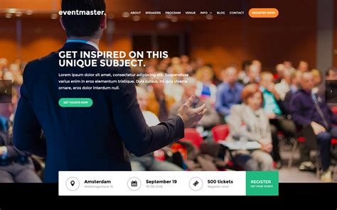 Event Website Templates Available At Webflow Conference Website Template Free