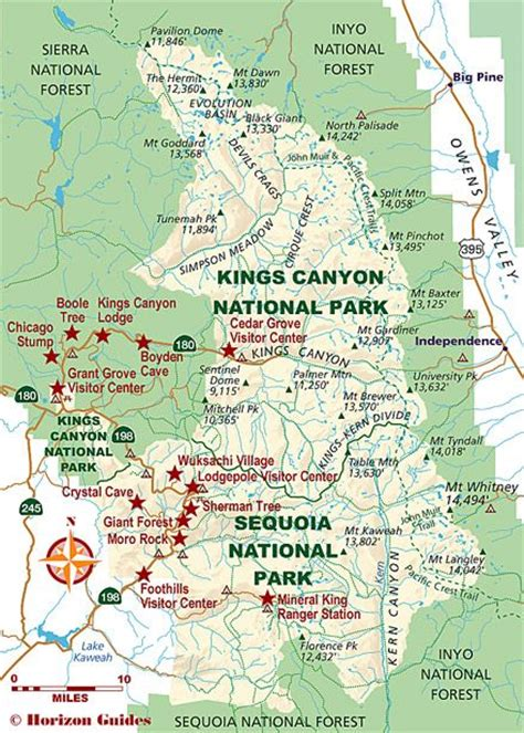 sequoia national park map travel guide national parks and california on