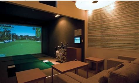 room decor simulator residential golf simulator room