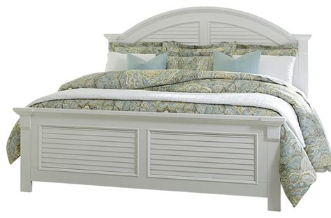 white bed coastal look beach style panel beds by
