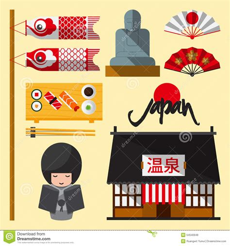 flat icon design japan set of japan icon in flat design the japanese letters