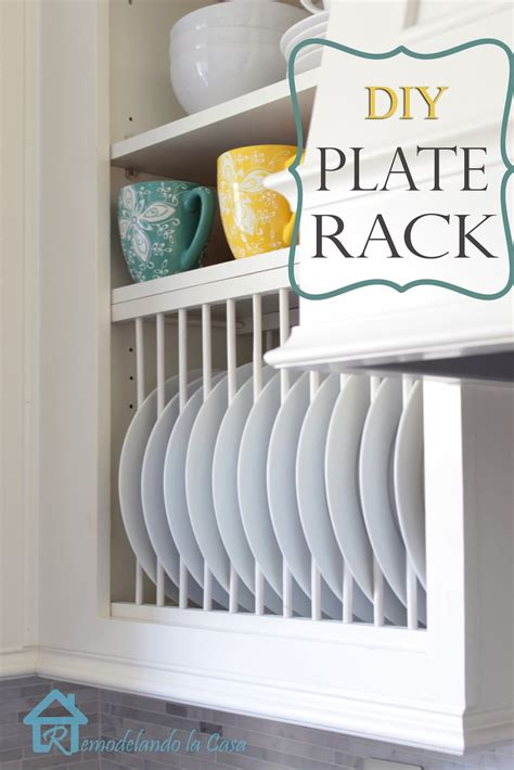 Diy Rack by Remodelando La Casa Diy Inside Cabinet Plate Rack