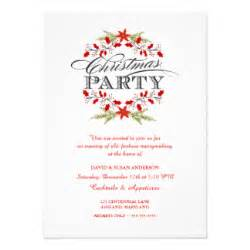 christmas party invitations zazzle