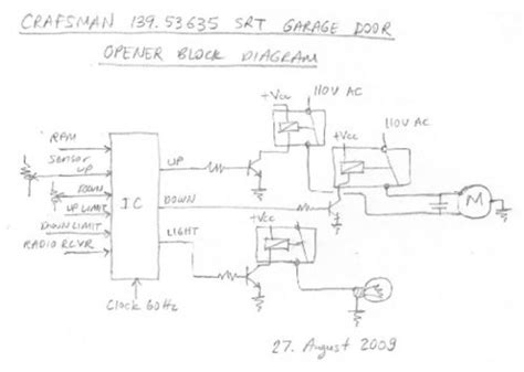 wiring diagram for a craftsman garage door opener wiring