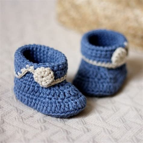 Handmade Baby Shoes Pattern - free shipping handmade crochet pattern baby shoes blue