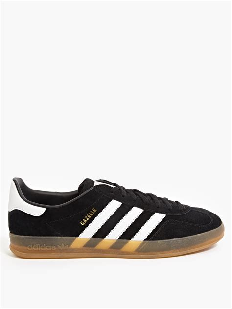 adidas men adidas originals gazelle indoor sneakers in black for men
