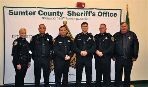 five new deputies ready for duty with sumter county