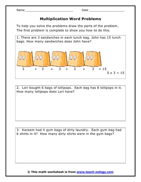 3rd Grade Math Word Problems Printable Worksheets by Free Printable Math Word Problem Worksheets For 2nd Grade