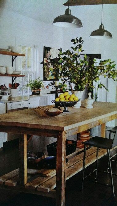 counter height farm house table design  general