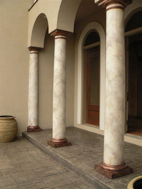 how to paint faux marble columns faux marble columns craftsman exterior other metro