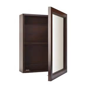 mirrored medicine cabinet shop broan 15 in x 19 in rectangle surface poplar