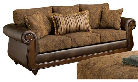 Oneida Sofa With 2 Pillows Traditional Sleeper Sofas Traditional Sleeper Sofa