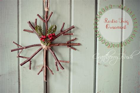 twig crafts for handmade ornament rustic twig snowflake