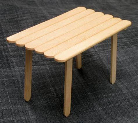 Popsicle Stick Chair by Popsicle Stick House With Table And Chairs Diy Family