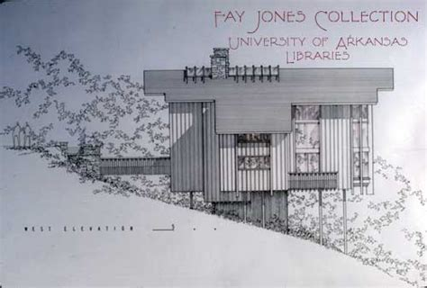 Home Design Blueprints fay jones collection university of arkansas libraries