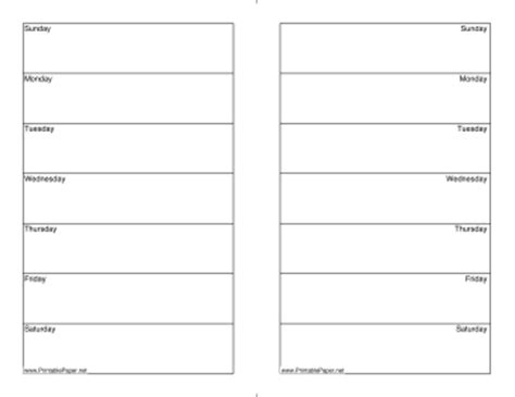 two week calendar template free printable two week calendar half page