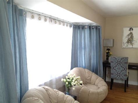 bendable curtain rods for bay windows bay bow window bendable curtain rod transitional