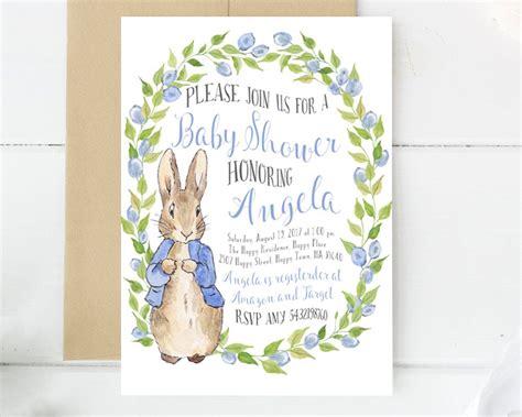 Rabbit Baby Shower Invitations by Rabbit Invitations Baby Shower Invitation Baby