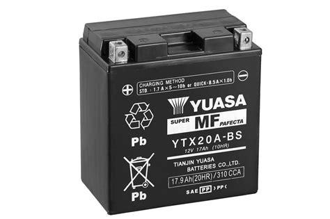 Motorrad Batterie Erhaltungsladeger T Test by Ytx20a Bs Wartungsfrei Motorrad Powersport Batterien