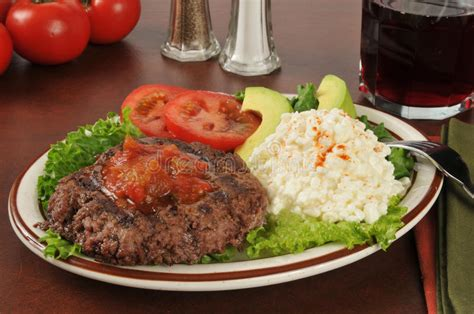 Avocado And Cottage Cheese Diet by Lean Grilled Sirloin Patty Stock Image Image Of Ground