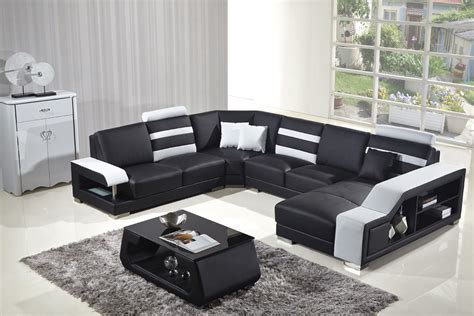 modern white bonded leather sectional sofa divani casa t356 modern black white bonded leather