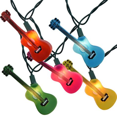 novelty light strings multi color guitars novelty string lights
