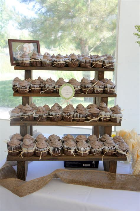 the cupcake stand 4 tiered rustic wooden display stand
