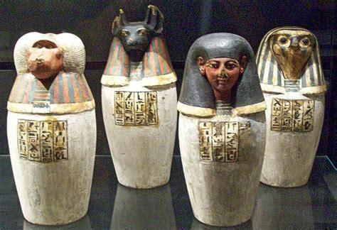 vasi canopi egiziani alegres viajores enfim o louvre