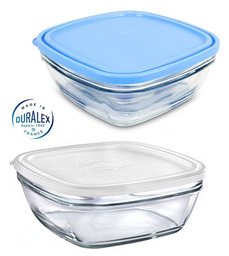 glass food storage containers with lids duralex toughened glass food storage containers