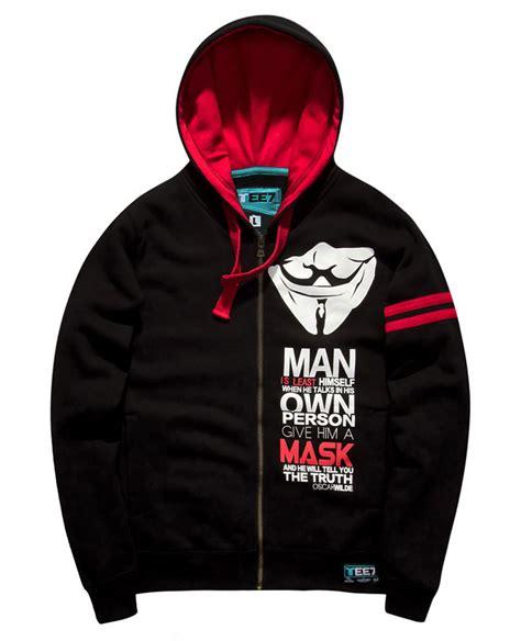 black zipper hoodie v for vendetta mask sweatshirts black zipper hoodie for