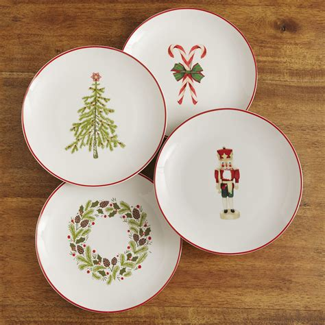 christmas table plate set for 4 right this way