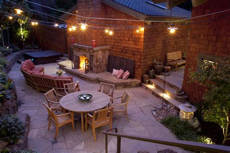 Patio Next To House Superb Low Voltage Landscape Lighting In Patio Traditional