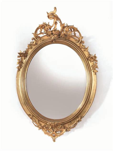 cornici ovali in legno specchiera sec xix in legno intagliato e dorato